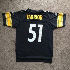 Reebok Shirts   Tops - Reebok Pittsburgh Steelers Jersey Farrior Kids M cb40d5fdc